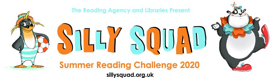 Summer reading challenge 2020 logo - SILLY SQUAD