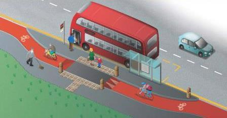 Visual of the new bus stop