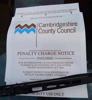 Cambridgeshire County Council issued Penalty Charge Notice