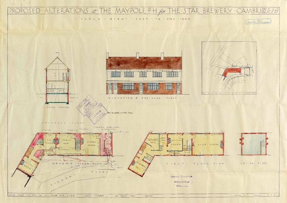 Design plans for the Maypole from 1933