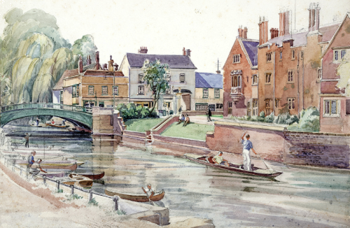 Image of painting of Magdalene College, Cambridge
