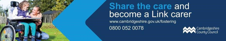 Image Banner - Share the care and become a Link Carer