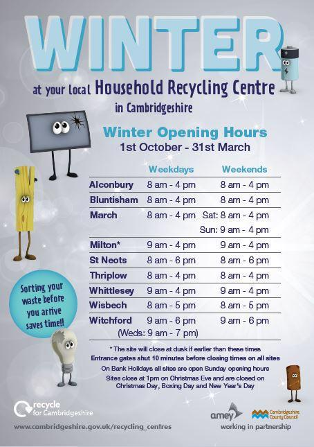 Household Recycling Centres Cambridgeshire County Council