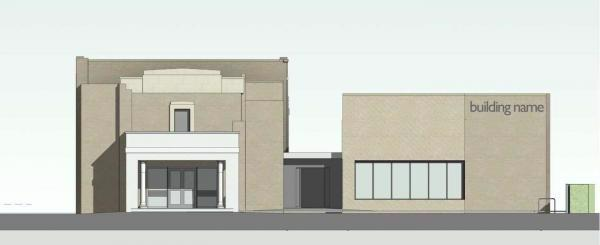 Sawston Library and Community Hub - Front elevation