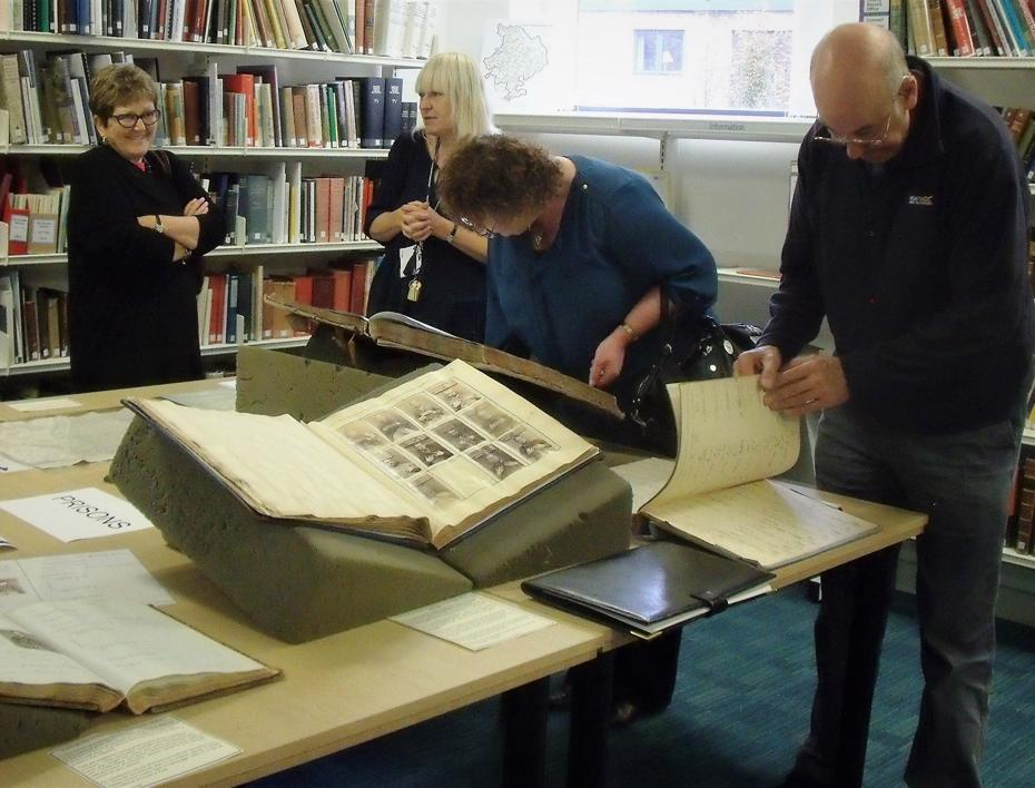 Group visit at Cambridgeshire Archives