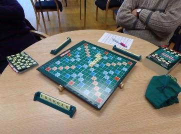 Photo of a scrabble board